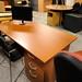 1400x760 straight desk with pedestal