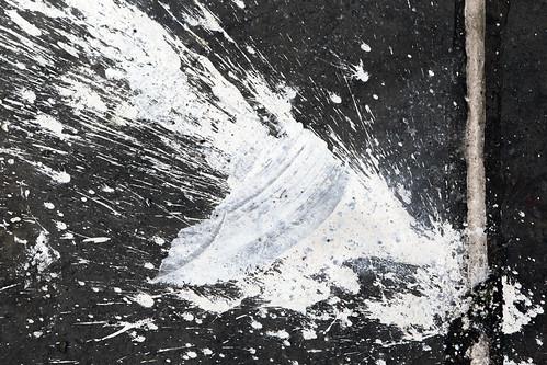 blackandwhite abstract bristol paint spray splatter