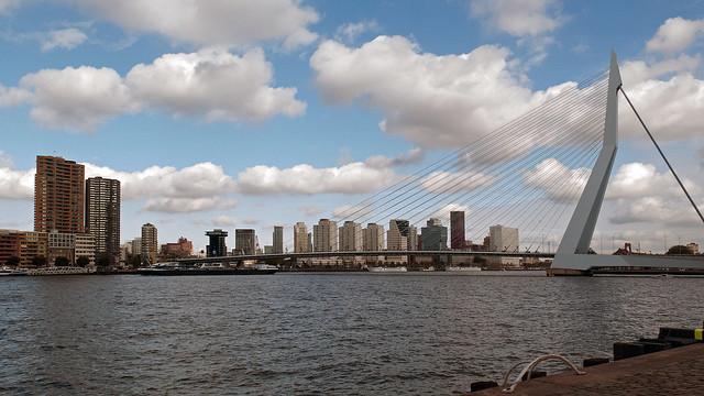 The Classic Rotterdam Skyline (The Orginal Colour Image)