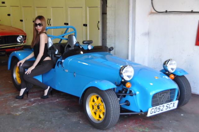 DSC_0101 Lotus 7 Classic Car and Emma in Shoreditch