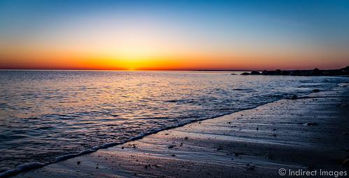 ocean beach water sunrise rocks waves capecod sandwich