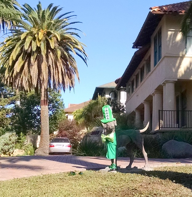 IMG_20160314_093615766 Santa Barbara Dog Statue St Patricks costume-002