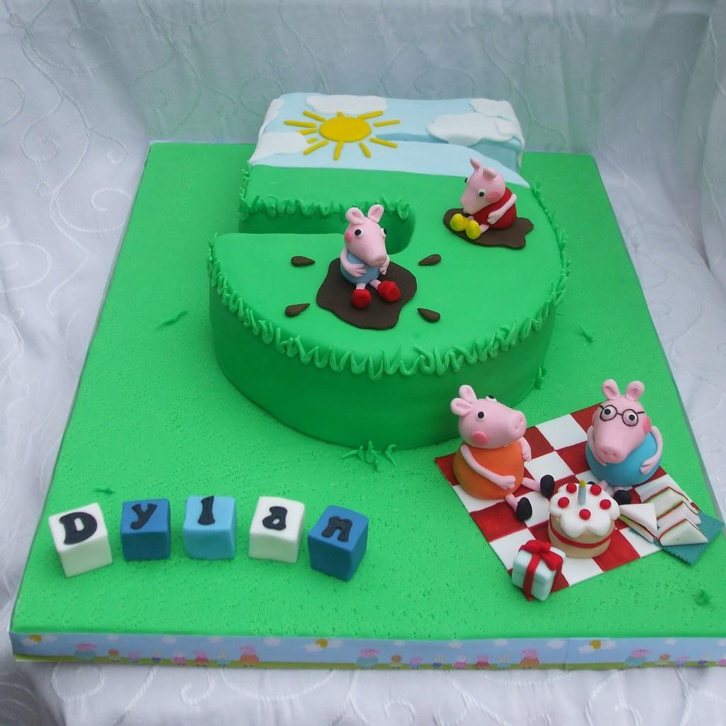 Stupendous Peppa Pig Cake Peppa Pig Number 5 Cake Jaxster Flickr Personalised Birthday Cards Akebfashionlily Jamesorg