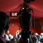 Filming Leila Aboulela & Alessandro Gallenzi | © Helen Jones