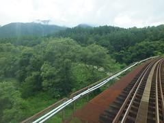 加藤谷川の先には那須連山