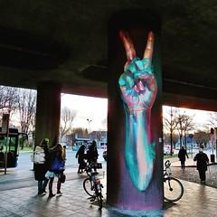 a #fist of #peace by @case_maclaim - #Munich #Germany #streetart #graffiti #streetart_daily #urbanart