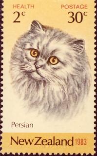 Persian Cat Stamp