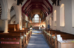 looking east through Hakewill's church into Pace's church