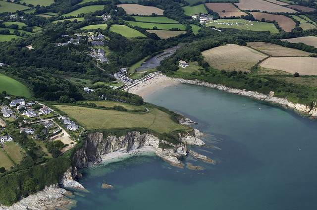 Maenporth in Cornwall - UK aerial image
