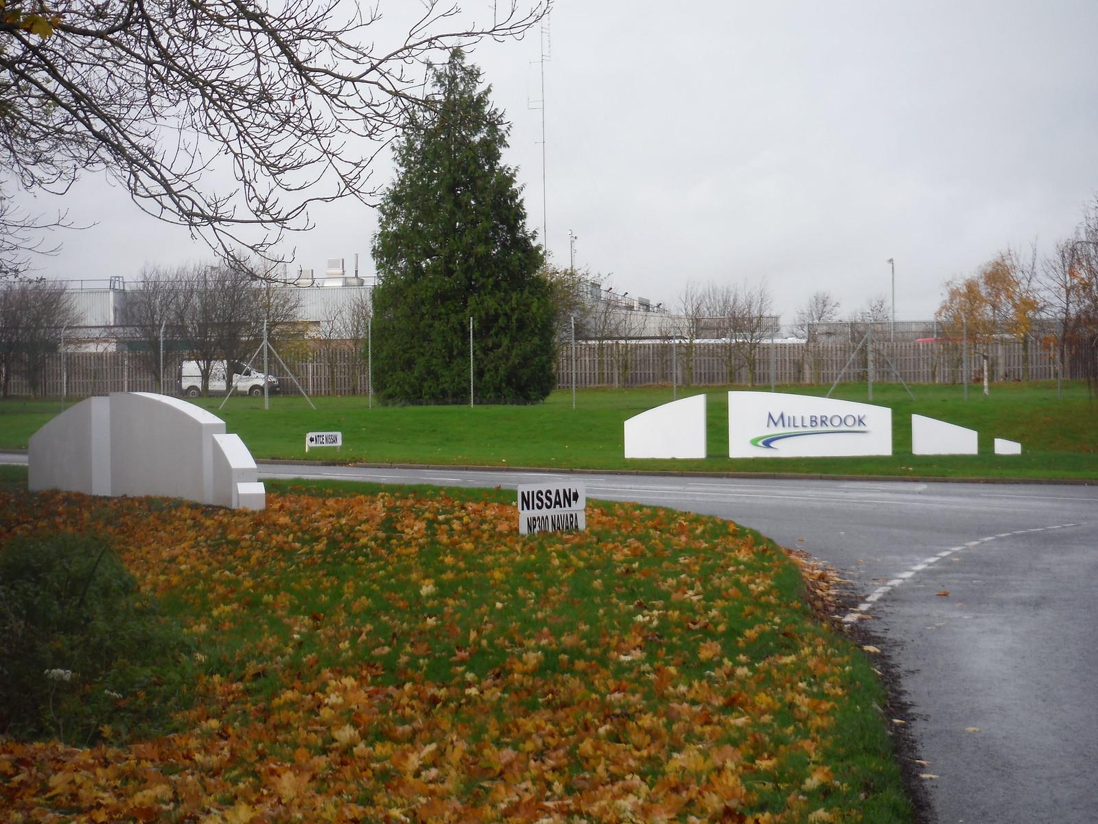 Entrance to Millbrook Vehicle Proving Ground SWC Walk 232 Lidlington to Flitwick