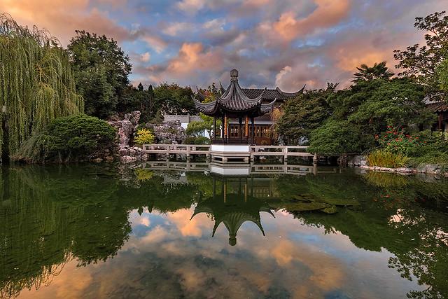 Reflecting at Lan Su Chinese Garden