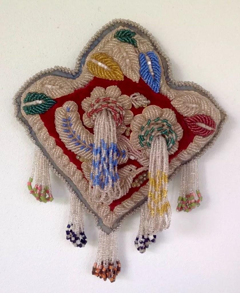 Circa 1900 beaded souvenir