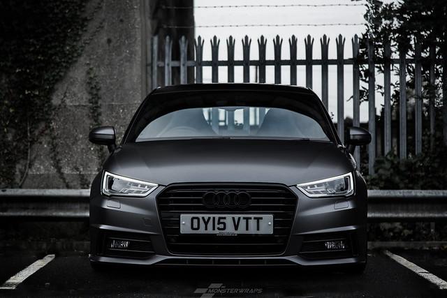 Audi A1 Satin grey/black full wrap