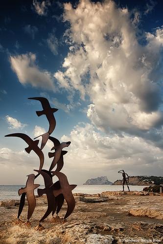 moraira teulada spain mediterráneo mediterranean sea mar sky cielo clouds nubes paisaje landscape seascape marina recesvintus franciscogarcíaríos costablanca top20 alicante