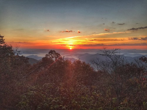 sunrise at appalachian trail nc
