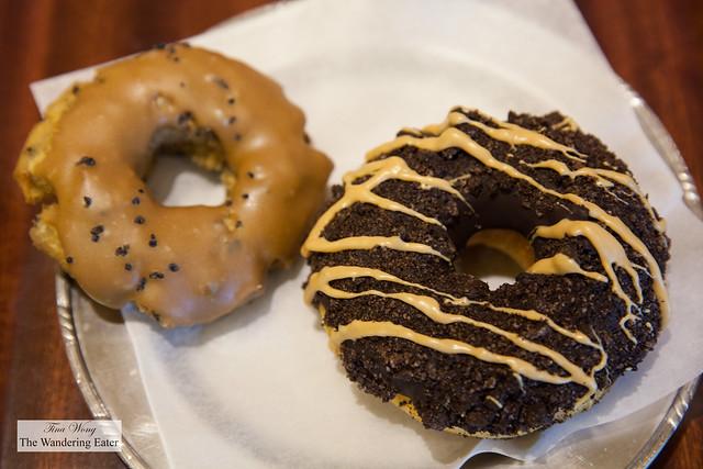 Old Dirty Bastard and Hawaiian Black Salt doughnuts