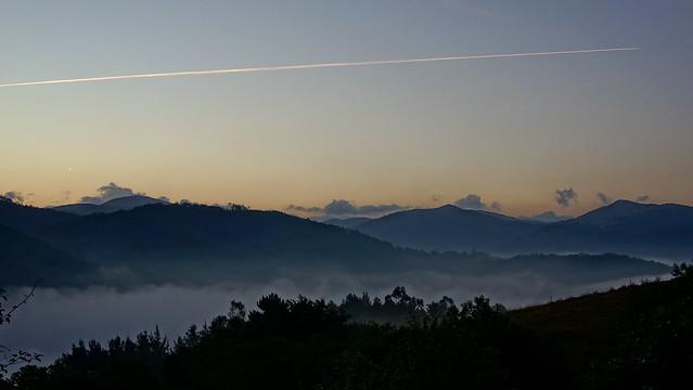 Misty / low cloudy morning. Asturias, Spain.
