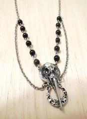 Handmade Bird Skull Necklace