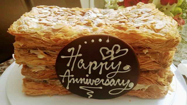 Napoleon Almond Walnut Meringue  Cake