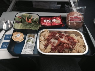 Copa Airlines B737-800 Economy class meal IAD - PTY. Pasta with beef. | by tipekusair