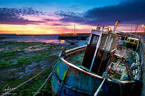 ocean old ireland sky galway water clouds sunrise bay pier boat fuji decay grunge shipwreck fujifilm barna skyporn xt1