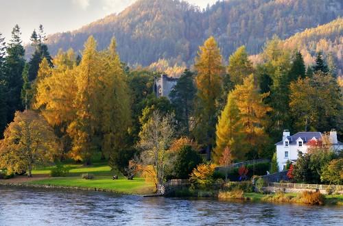 autumn trees landscape scotland landscapes outdoor perthshire hills dunkeld ericrobbniven