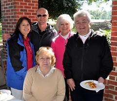 L-R standing: Michelle Sebren, David Frisbie, Linda & Tom Williford. Seated: JJ Jolliff.