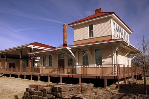 Johnny Cash's personal train station - Amqui, TN