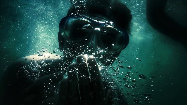 Scuba diving.  My first underwater photo.
