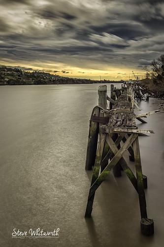 longexposure sunset sky nikon jetty australia tasmania launceston tamarriver nikon2470mmf28 nikond800e
