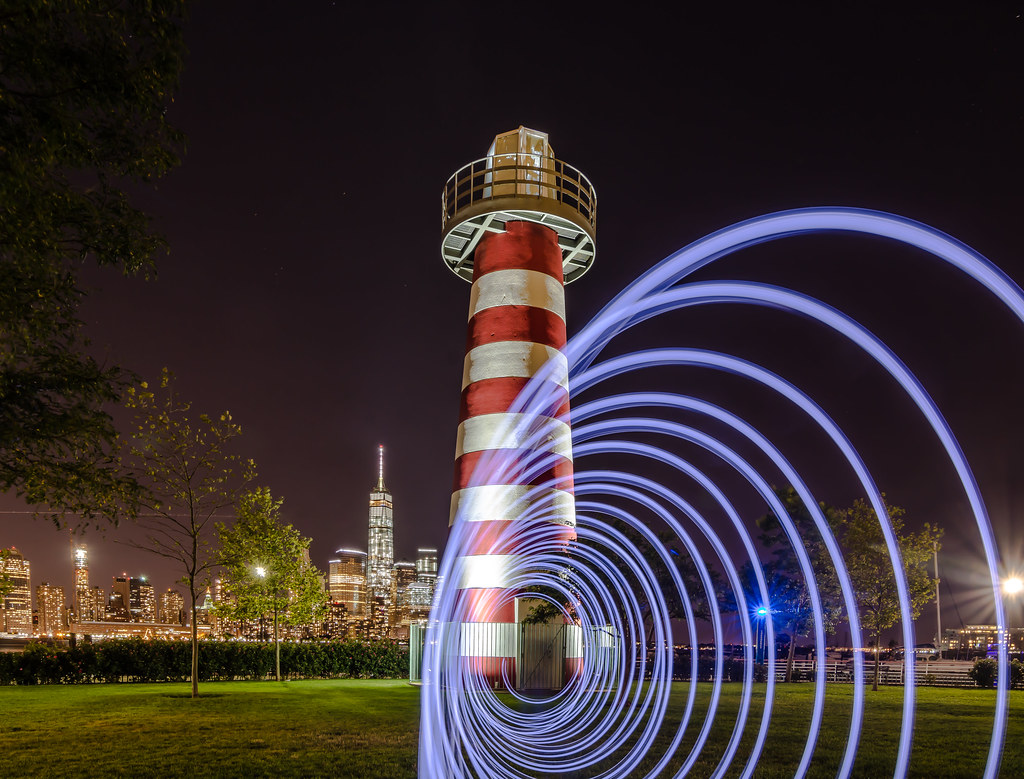 Light Painting at LeFrak Point Lighthouse, Newport, New Je