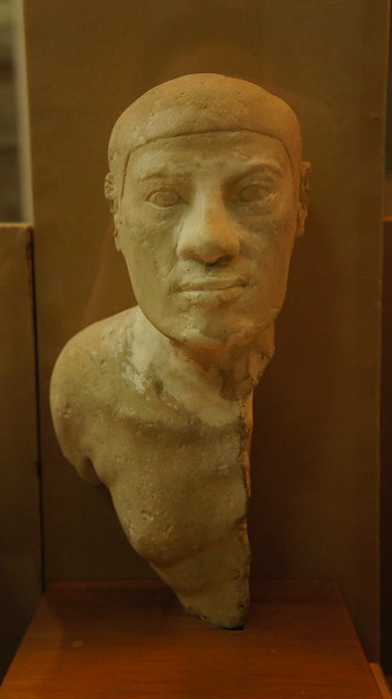Remains of an ancient Egyptian statue at the Egyptian Museum of Cairo