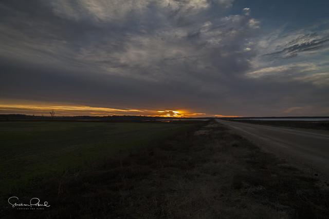 Sunset at Hagerman NWR