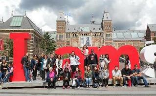Mon, 10/05/2015 - 12:14 - GCC Study Abroad students in Amsterdam