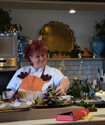 Iconic Pam in full Christmas cheer at Ballymaloe Cookery School.   by The Abundant Kitchen