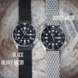 todella söpö paras hinta uusi saapuu Seiko SKX013 on Black Heavy Mesh or Shark Mesh ...