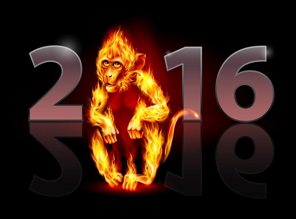 New Year 2016 Fire Reflection HD Wallpaper - StylishHDWallpapers
