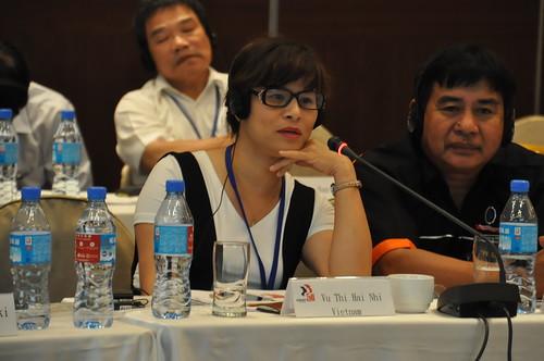 圖17越南代表Vu Thi Hai Nhi女士會中發言