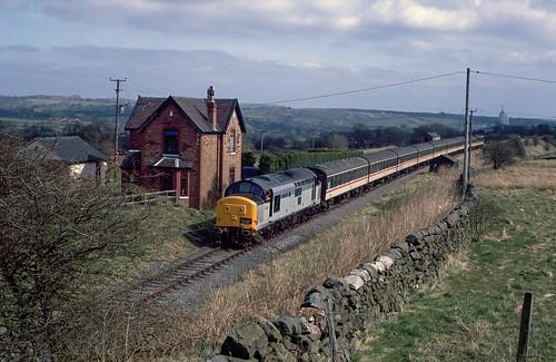 hertfordshirerailtours winkhill winkhillhalt cauldonlowbranch britishrail class37 class374 37417 thecreamedleek