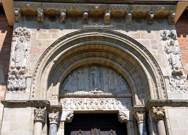 493 - Tímpano - Puerta Miegeville - Basílica Saint Sernin - Toulouse (France).