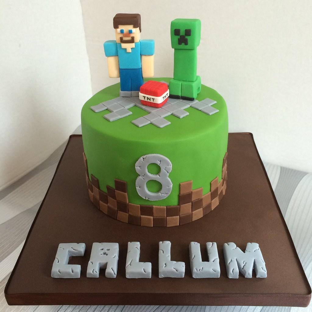 Surprising Minecraft Birthday Cake Kat Buchan Flickr Funny Birthday Cards Online Elaedamsfinfo