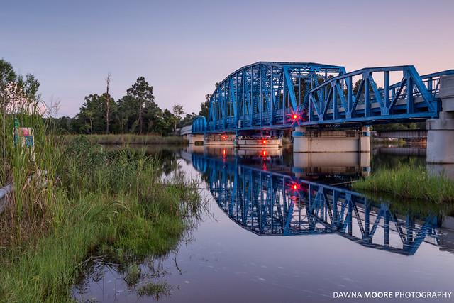 Blue Bridge over the St. Marys River, Kingsland, Georgia