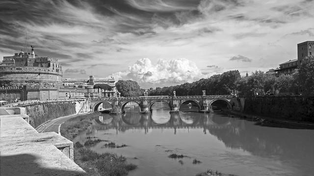 St. Angelo BW. Lazio. Rome, Italy