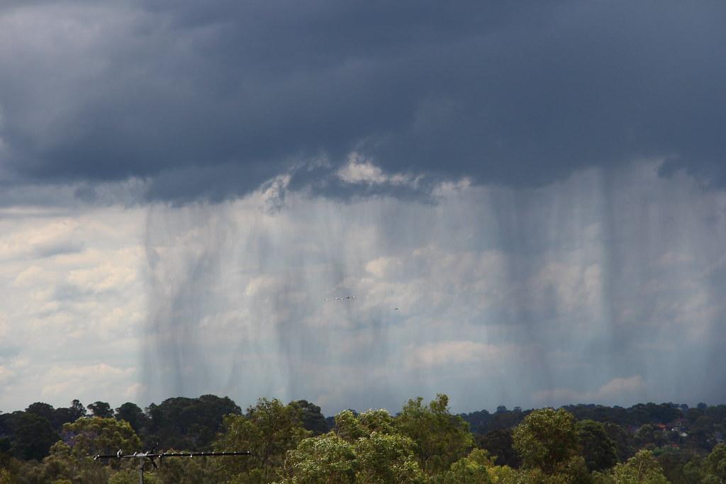 Falling rain - Pemulwuy, NSW