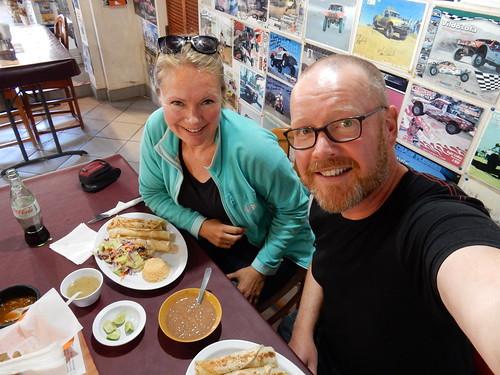 El Rosario - kreeft burrito bij Mama Espinosas