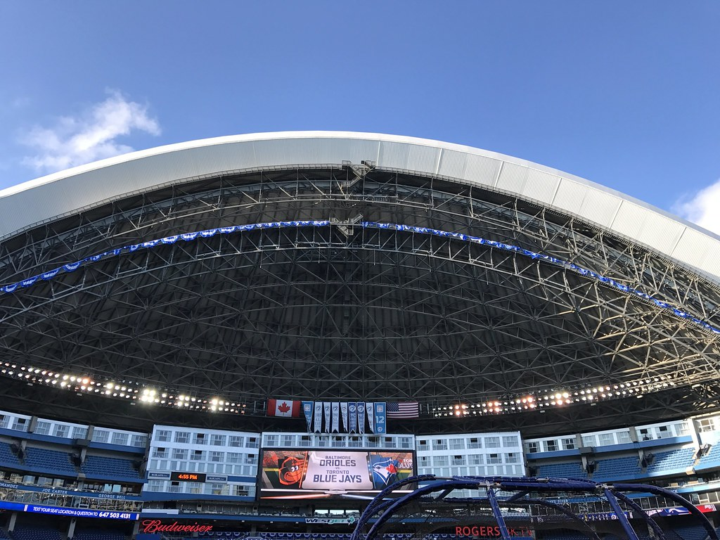 The Rogers Centre Roof Is Open For The Al Wild Card Game