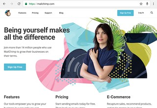 mailchimp home page | by yaulaannl