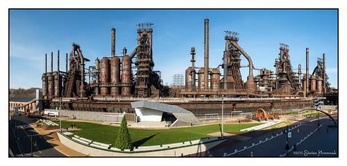 pennsylvania steel walkway pavilion bethlehem bethlehemsteel levitt levittpavilion artsquest steelstacks
