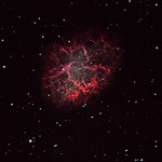 Crab nebula close-up