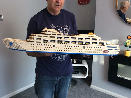 Canberra Display Glued Model Lego cruise ship P&O shop display promotional item 1960's 60s vintage retro Brittish ferry boat